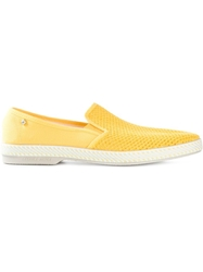 Rivieras Perforated Slip On Sneakers Yellow And Orange