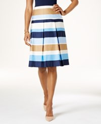 Charter Club Cotton Print Skirt Only At Macy's Intrepid Blue Stripe Combo