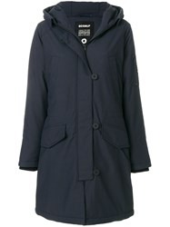 Ecoalf Parka Coat Blue