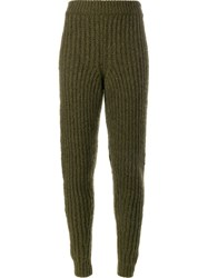 J.W.Anderson J.W. Anderson Ribbed Knit Trousers Green