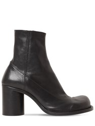 Maison Martin Margiela 80Mm Maby Leather Ankle Boots Black
