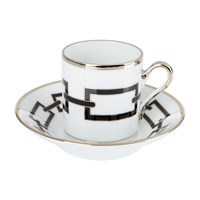 Richard Ginori 1735 Catene Nero Coffee Cup And Saucer