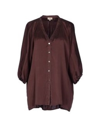 Her Shirt Shirts With 3 4 Length Sleeves Maroon