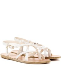 Ancient Greek Sandals Semele Leather Sandals White