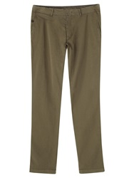 Jigsaw Garment Dye Slim Workwear Trousers Khaki