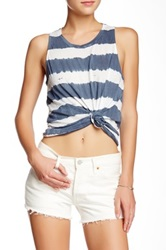 Gypsy05 Striped Tie Dye Tank Blue