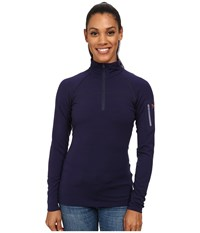 Arc'teryx Rho Ltw Zip Neck Marianas Women's Long Sleeve Pullover Blue