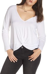 Treasure And Bond Twist Detail Cotton Blend Top White
