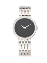 Movado Stainless Steel Bracelet Watch Black