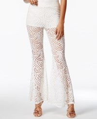 Material Girl Juniors' Lace Flare Leg Pants Only At Macy's Cloud Dancer