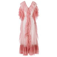 Supersweet X Moumi Tulle Dress In Baby Pink And Rose Pink Purple