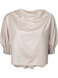 08Sircus Structured Sleeve Blouse Nude Neutrals