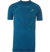 Asics Perforated Motion Dry Running T Shirt Blue