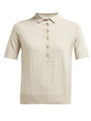 Allude Jersey Polo Shirt Beige