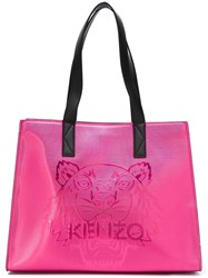 Kenzo 'Tiger' Tote Pink And Purple