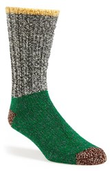 Men's Woolrich Colorblock Merino Wool Blend Socks Granite