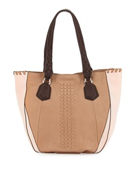 Oryany Lyssie Colorblock Whipstitched Tote Bag Nude Multi