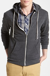 Threads For Thought Trim Fit Heathered Hoodie Heather Black
