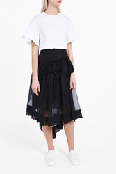 Simone Rocha Women S Organza Ruffle Lace Skirt Boutique1 Black