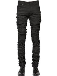 Diesel Black Gold 16.5Cm 3D Extra Long Waxed Denim Jeans