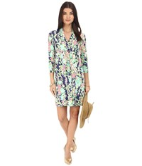 Lilly Pulitzer Alexandra Dress Bright Navy Southern Charm Women's Dress Green