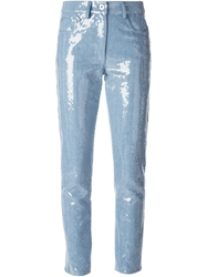Moschino Sequined Cropped Jeans