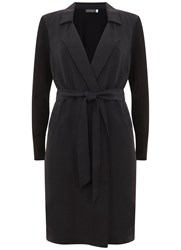 Mint Velvet Black Longline Duster Cardigan Black