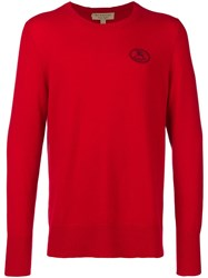 Burberry Logo Crest Sweater Red