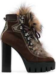 Dsquared2 Lace Up Ankle Boots Brown