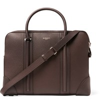 Givenchy Grained Leather Briefcase Dark Brown