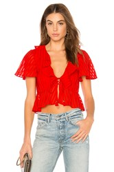 Finders Keepers Arcadia Top Red