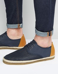 Aldo Meallen Lace Up Espadrilles Navy