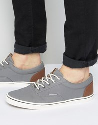 Jack And Jones Vision Canvas Sneakers Gray