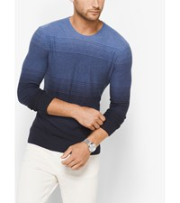 Ombre Cotton Crewneck Shirt Midnight Om