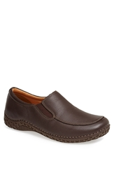 Alegria 'Foxe' Venetian Loafer Men Chocolate Tumbled