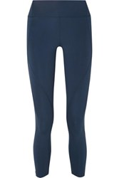 Lndr Sculpt Cropped Stretch Leggings Blue