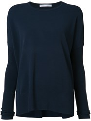 Victor Alfaro Crew Neck Jumper Blue