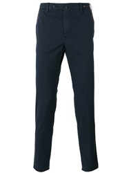Pt01 Tapered Cropped Trousers Blue