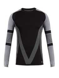 Every Second Counts Race Day Tech Seamless Long Sleeved T Shirt Black Multi