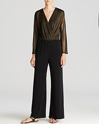 Vintage Havana Jumpsuit Metallic Gold Black