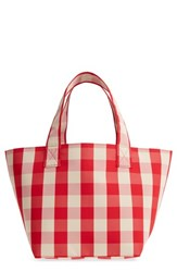 Trademark Small Gingham Nylon Grocery Tote Red Red Cream