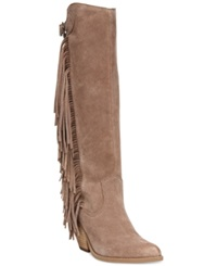 Carlos By Carlos Santana Lever Fringe Tall Boots Women's Shoes Doe