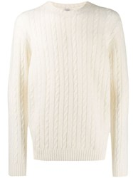 Eleventy Cable Knit Jumper White