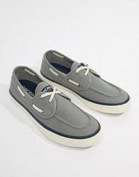 Sperry Topsider Sneaker Boat Shoes In Grey