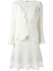Chanel Vintage Knit Three Piece Suit White