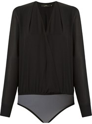 Andrea Marques Wrap Style V Neck Body Black
