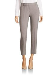 Peserico Cotton Blend Cropped Trousers Grey