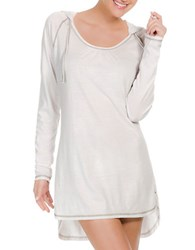 Ecoswim Hooded Cover Up Dress White