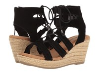 Minnetonka Leighton Black Suede Women's Wedge Shoes