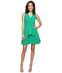 Adelyn Rae Ruffle Fit And Flare Dress Green Women's Dress